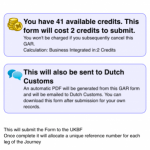 General Declaration (GenDec) forms and Dutch Immigrations