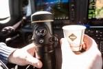 Freshly Brewed Espresso at 18.000 feet altitude